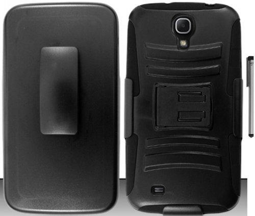 Cheap Accessory Kits For Samsung Galaxy Mega 6.3 Belt Clip Holster Hybrid Kickstand Cover Case..