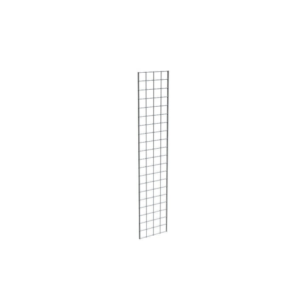 Grid Panel for Retail Display - Perfect Metal Grid for Any Retail Display, 1' Width x 5' Height, 3 Grids Per Carton (Chrome)