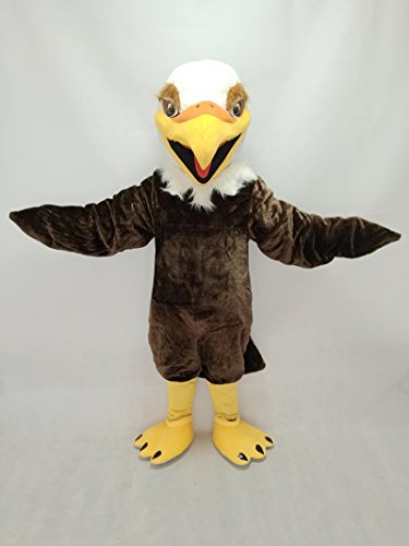 Long Hair Plush Hawk Falcon Eagle Mascot Costume]()