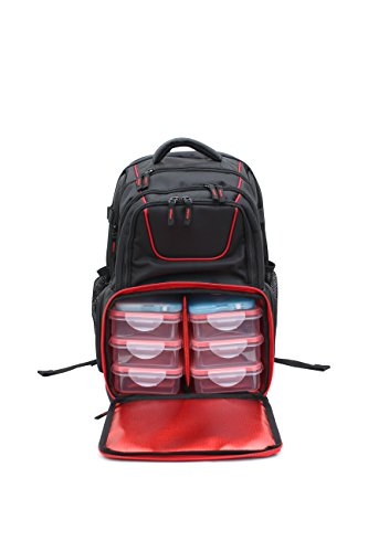 - 519 Fitness Meal Prep Backpack Insulated Waterproof-Cooler Lunch Backpack Hiking Backpack for Men and Women-Picnic Cooler Backpack with 6 Leakproof Meal Containers and 2 Ice Packs