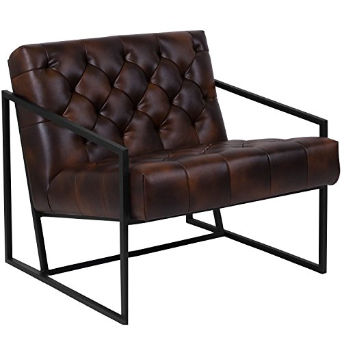 Flash Furniture ZB-8522-BJ-GG Bomber Jacket Leather Reception Furniture-Chairs