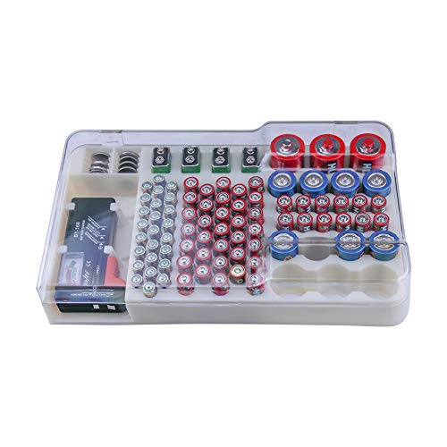 Battery Organizer Storage Rack with a Removable Battery Tester Holds (98) by HEYANG (Image #5)