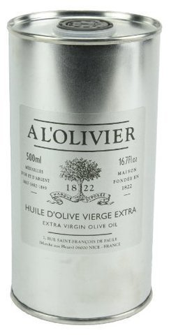 A L'Olivier Refill Tin Extra Virgin Olive Oil, 16.7-Ounce Tins by A L'Olivier