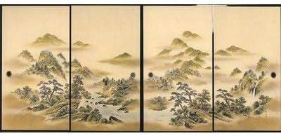 太陽 襖紙 4枚組 4枚柄織物高級 ふすま紙 SA-61