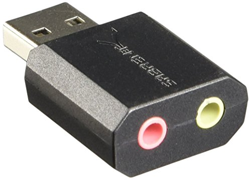 Sabrent USB External Stereo Sound Adapter for Windows and Mac. Plug and...