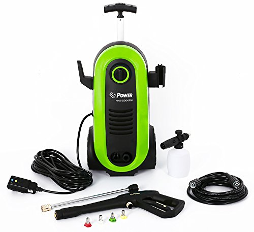Power Pressure Washer 2200 PSI 1.76 GPM Electric 14.5Amp BRUSHLESS Induction Technology | The Next Generation of Pressure Washer | 4X More Lifespan | Ultra Low Sound (Green)