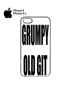 Grumpy Old Git Birthday Gift Mobile Cell Phone Case Cover iPhone 4&4s Black
