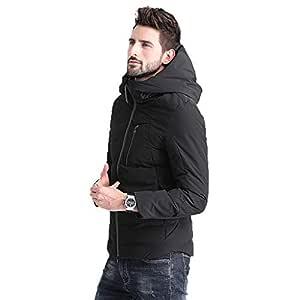 Lhl Abrigo Corto de algodón para Hombre Abrigo Fino de Invierno ...