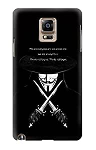 S0092 V Mask Guy Fawkes Anonymous Case Cover For Samsung Galaxy Note 4