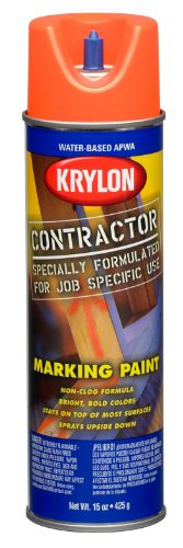 (Krylon (K07320007-6 PK Fluorescent Orange Water Based Marking Paint - 15 oz. Aerosol, (Case of 6))