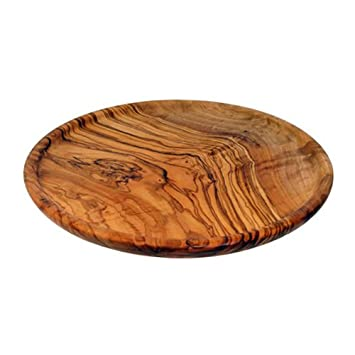 OLIVE WOOD DINNER PLATE 22cm by Mastro Leonardo - Handmade in Italy (Gourmet Wooden Dish Suitable to eat Grilled Meat and Polenta) Amazon.co.uk Kitchen \u0026 ...  sc 1 st  Amazon UK & OLIVE WOOD DINNER PLATE 22cm by Mastro Leonardo - Handmade in Italy ...