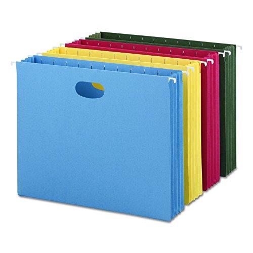 Smead Hanging File Pocket, 3-1/2 Expansion, Letter Size, Assorted Colors, 4 per Pack (64290)