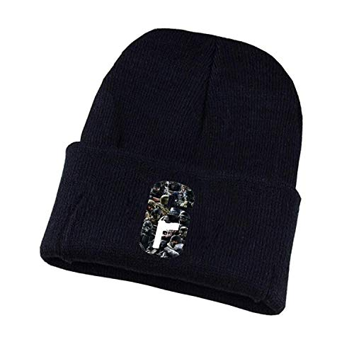 Hot Game Rainbow six Hat Men Women Winter Knitted Cap Teenagers Cosplay hat Costume Unisex Print Adult Casual Cotton hat,01,One -