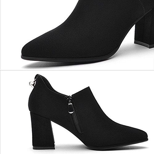 Größen Heels High L EU36 Schuhe UK4 2 5 Farbe LIANGJUN Frau Farben Verfügbar 230mm Stiefeletten 6 Black qZfSwnExY