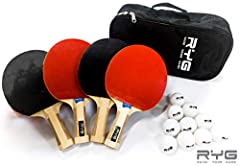 Looking for affordable yet professional quality table tennis rackets and game balls? RYG Ping Pong Paddle Set is the one for you. Our goal is to make this fun sport available to more people in more places - no matter your fitness level, skill...
