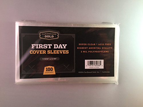 100 CBG First Day Cover Sleeves - Archival Quality Protection for Your first day issue stamp collection