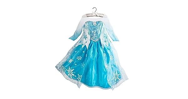 Amazon.com: Disfraz de Frozen vestido de la reina Elsa con ...