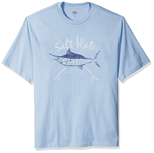 IZOD Men's Big Saltwater Graphic Tees, Powder Blue, 3X-Large (454 Rugby)