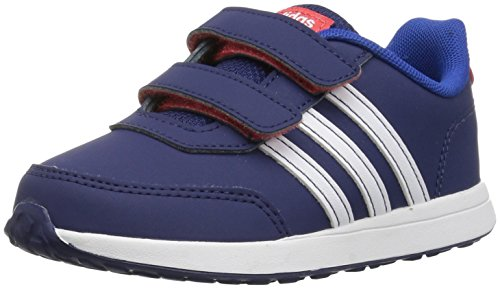 - adidas Kids' VS Switch 2 Sneaker, Dark Blue/White/Hi-Res Red, 10K M US Toddler