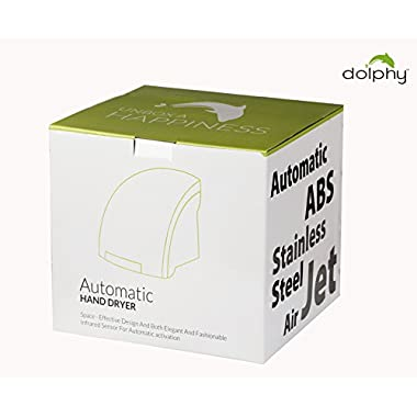 DOLPHY Plastic Automatic Hand Dryer (White, Standard) 9