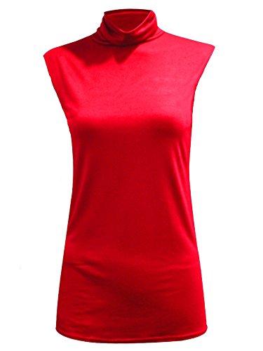 AHR_Manchester_LTD - Camiseta sin mangas - Chaleco Top - Básico - para mujer Rosso
