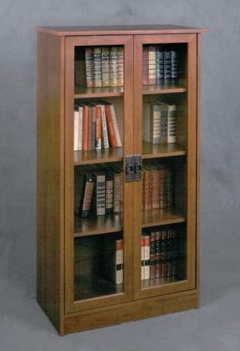 Altra Quinton Point Bookcase with Glass Doors, Inspire Cherry