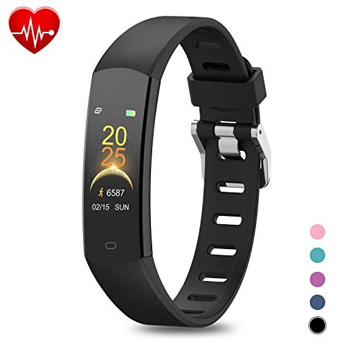 BingoFit 905HR Fitness Activity Tracker, Slim Wearable Water Resistant and Sleep Monitor, Wireless Pedometer Wristband Calorie Step Counter Watch for Kids Women Men