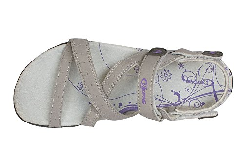 Kefas - Sandalias de vestir para mujer caqui gris - gris