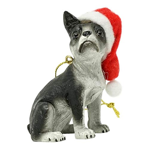 - Snaproducts Boston Terrier Christmas Ornament, Each Measures Approximately 3 in X 3 in X 1 1/4 in