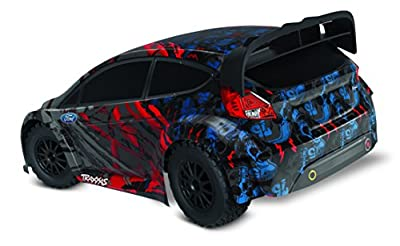 Traxxas Automobile Vehicle 1/10 Scale Remote Control Awd Ford Fiesta ST Rally Race Car with TQ 2.4GHz Radio