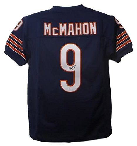 Jim Mcmahon Chicago Bears - Jim McMahon Autographed Chicago Bears Size XL Blue Jersey (Name Only) JSA