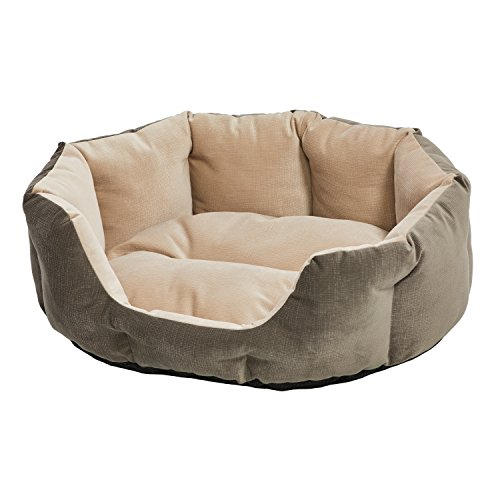 MidWest Homes for Pets QuietTime Deluxe Tulip Nesting Pet Bed, Gray/Tan, Small (Nesting Pet Bed)
