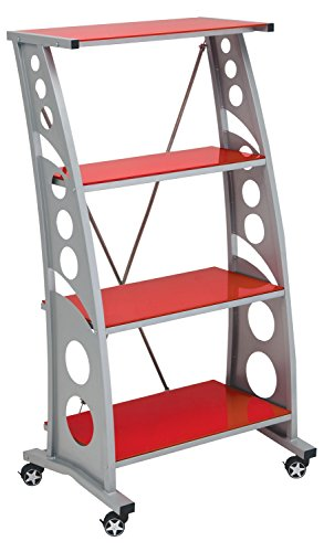 (Pitstop Furniture WS5000R Red Chicane Bookshelf )