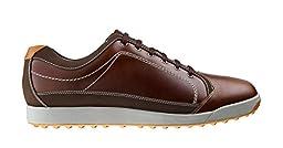 Mens FootJoy Contour Casual Closeout Golf Shoes 54222 Brown/Orange Trim