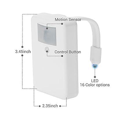 LumiLux Advanced 16-Color Motion Sensor LED Toilet Light, Internal Memory, Light Detection