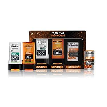 LOreal-Men-Expert-Pack-de-Ducha-Antifatiga-para-Hombre-Incluye-Gel-de-Ducha-Calmante-Hydra-Energetic-Gel-de-Ducha-Taurina-Hydra-Sensitive-y-Crema-Hidratante-24H-Hydra-Energetic