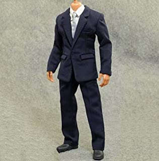 1//6 White Long Sleeve Formal Dress Shirt /& Tie for 12/'/' Dolls Figures Bodys