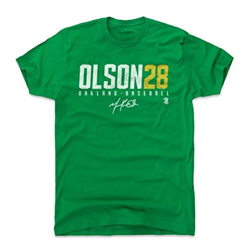 500 LEVEL Matt Olson Cotton Shirt Medium Kelly Green - Oakland Baseball Men's Apparel - Matt Olson Olson28 Y WHT