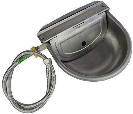 Lucky Farm - Bebedero automático para beber agua de ganado con válvula de flotador para perros, 3 en 1, de acero inoxidable