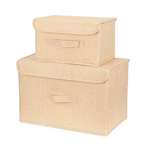 Fox Float Atv - MOPOLIS 2pcs Foldable Cotton Storage Bin Box Clothes Toys Organizer Cube Container Set (Color - Yellow)