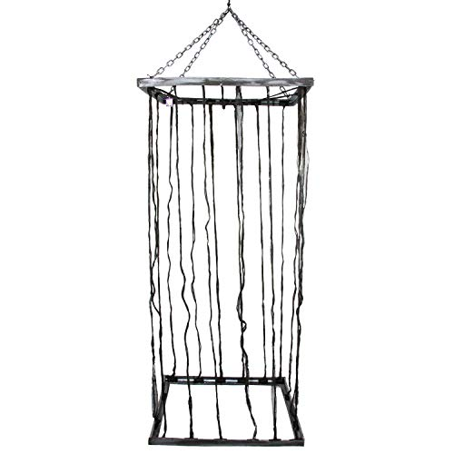 Jail Halloween Decorations (Halloween Haunters Hanging 7 Foot Prison Jail Cell Cage Prisoner Prop Decoration - Hold Party Guests in A Spooky Life-Size Jail - Scary Fake Bars & Chains - Haunted House)