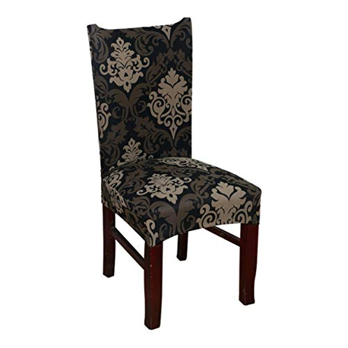 TANGOGO Chair Covers Jacquard Stretch Chair Covers for Dining Room Decoration Short Half Machine Washable