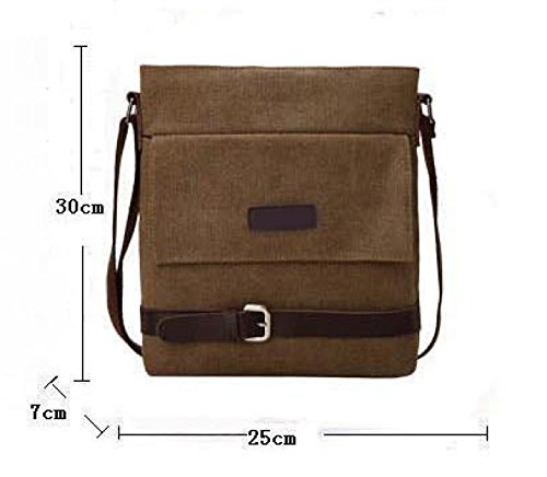 Canvas Messenger Shoulder Bag Satchel Bookbag Scuola Lavoro,A-OneSize