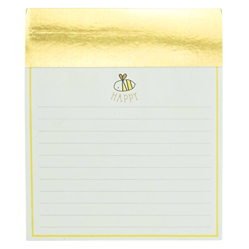 Graphique de France Bee Happy Jotter Notepad in Gold 4.5