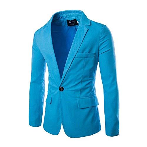 Moderna A Giacche Lavoro Lunghe Da Blau Risvolto Uomo Maniche Sky Giacca Casual Elegante Sportiva Haidean Con xq0zYFwAtA