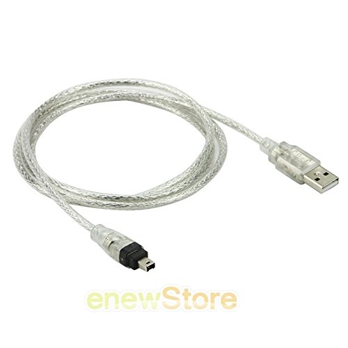 1.5m Usb 2.0 Male To Firewire Ieee 1394 4 Pin Male Ilink Cable - 2