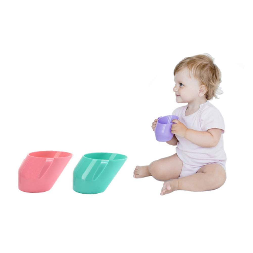 Baby Drink Training Cup Toddler First Cup Trainer Water Cup Oblique Learn Drinking Bottle Pink