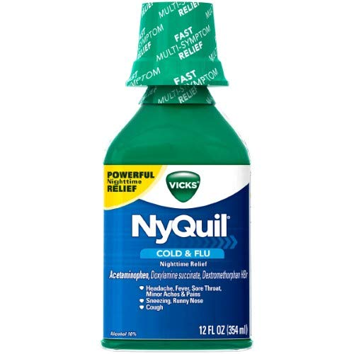 Vicks NyQuil Cold & Flu Original Liquid (Pack of 2)