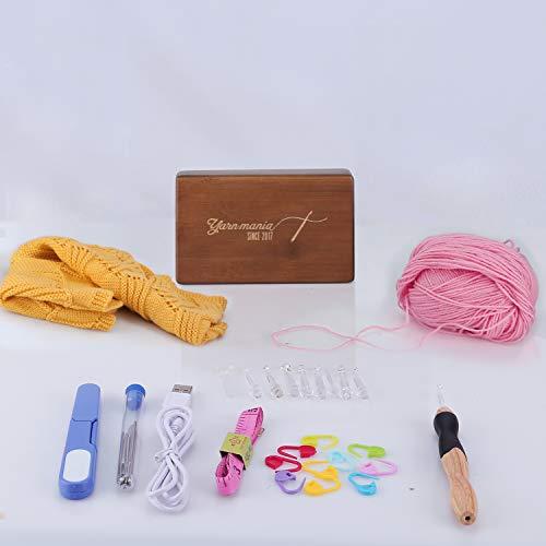 9 Interchangeable Lighted Yarn Mania Light up Crochet Hooks Limited Edition