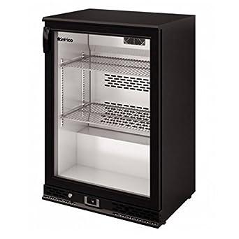 Frigorífico de exposición negro puerta 140 Litres frío con ...